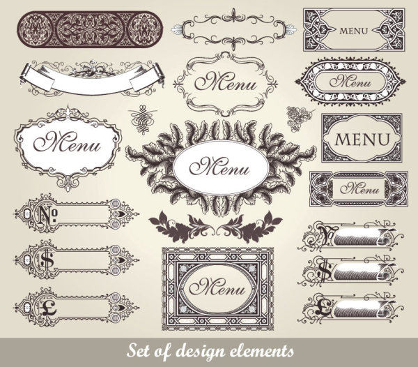 European classic pattern lace 02 - vector material
