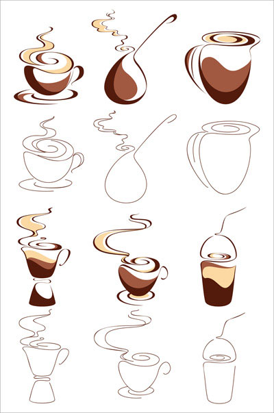 Abstract the coffee graphic vector material -1
