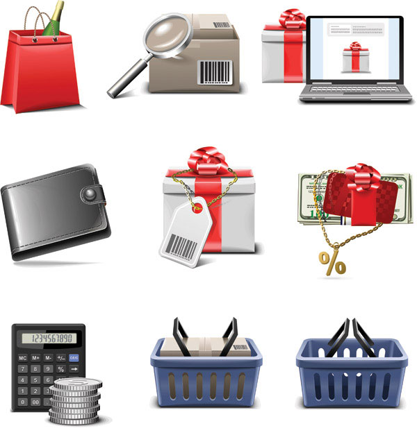 The shopping series of icon vector material