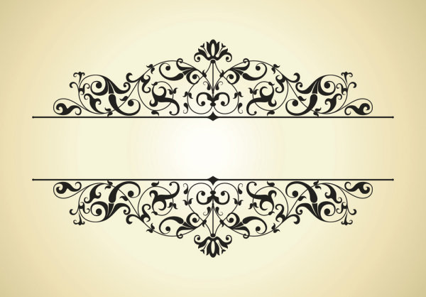Beautiful lace pattern 01 - Vector_Download free vector,3d ... | 600 x 418 jpeg 44kB