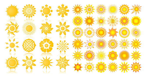 The sun graphic icons Vector