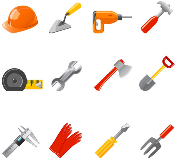 Common tools icons - vector material