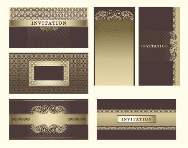 Exquisite European pattern background 03 - vector material