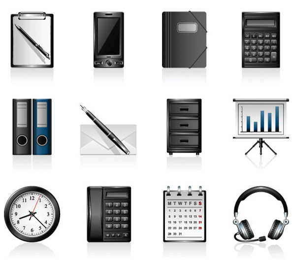 Office products icons - vector material