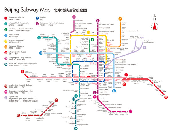Beijing subway map _ vector