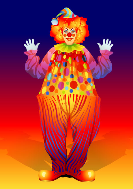 The clown illustrator 02 - vector material