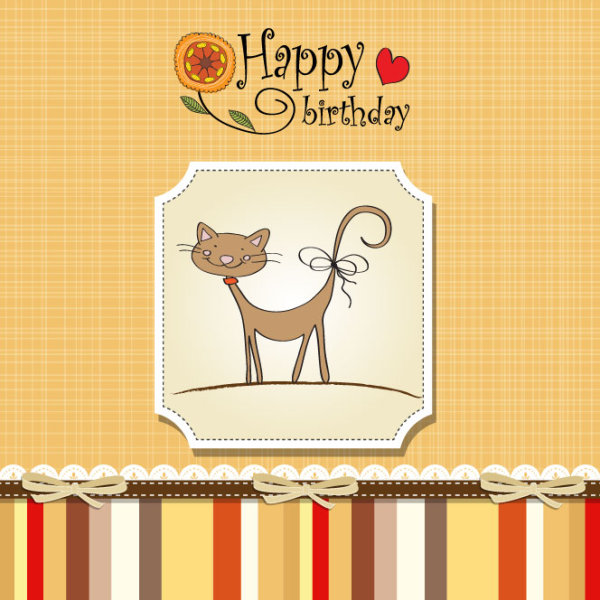 Birthday card 03 - vector material