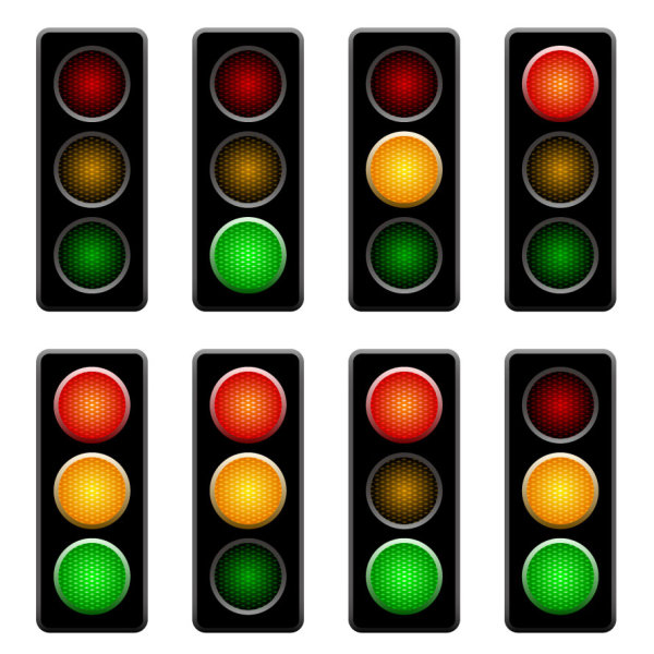 Traffic lights 01 - vector material