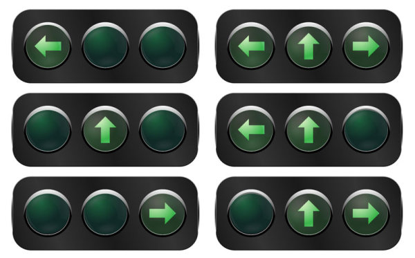 Traffic lights 02 - vector material