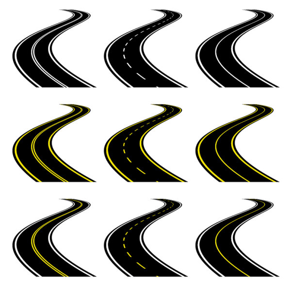 The road icon 01 - vector material