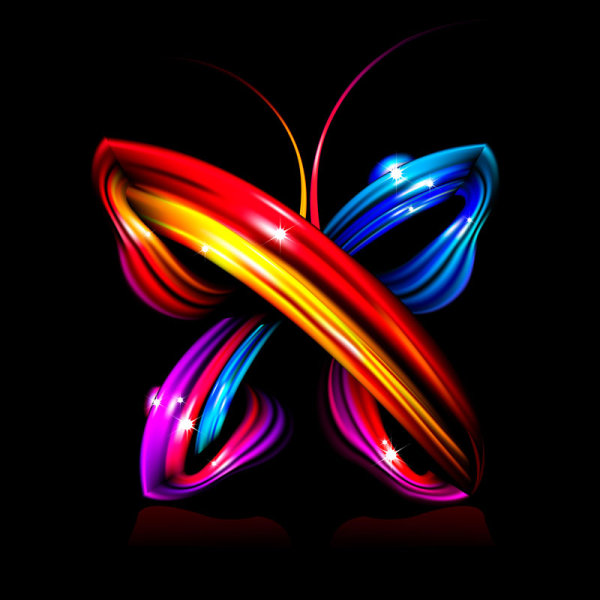 Brilliant dynamic abstract butterflies - vector material