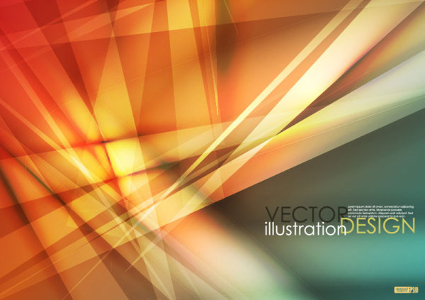Gorgeous dynamic flare background 04 - vector material