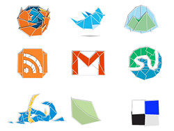 Web 2.0 services, origami style icon Download Logo