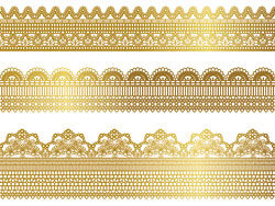 Gold lace pattern 01 - Vector
