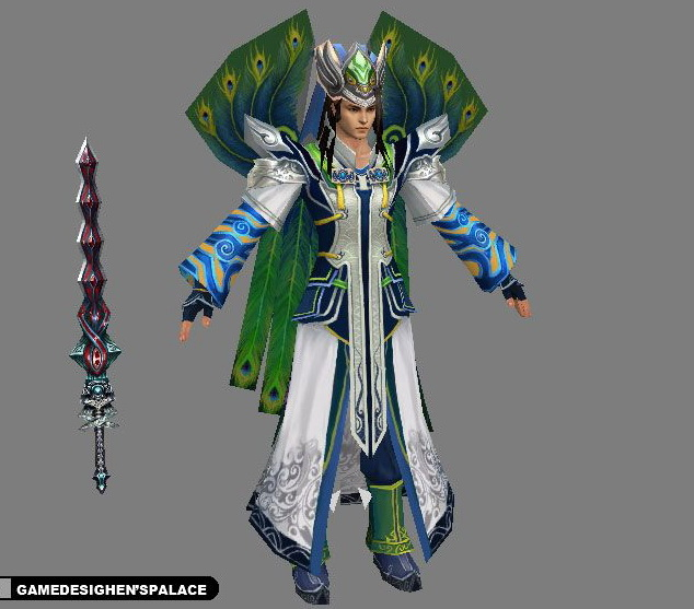 Peacock Swordsman 3D model
