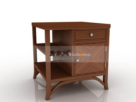 Markor Furnishings contemporary asian Fusion corner table