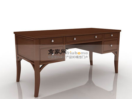 Markor Furnishings contemporary asian Fusion writing desk
