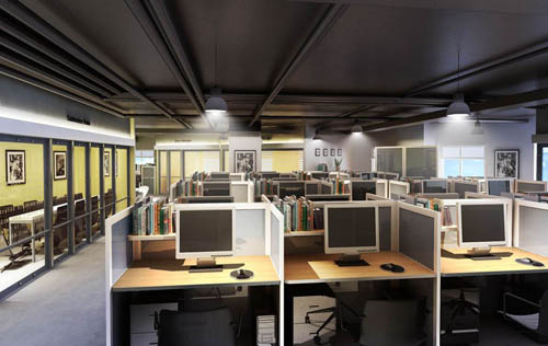 Office of the -3, commercial space, studio, office, model