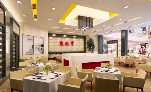 Restaurant -3, commercial space, restaurants, model