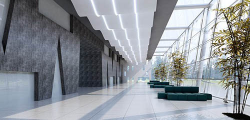 Lobbies -1, hotels, companies, hall, commercial space, model