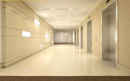 Elevator -5, elevator, walkways, commercial space, model