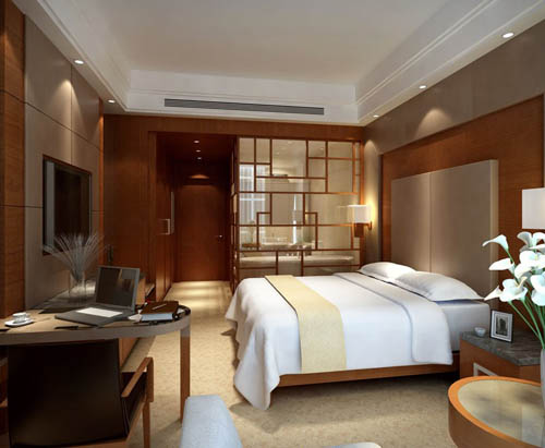 Hotel rooms -1, housing,, bedroom, commercial space, model