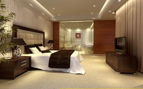 Hotel rooms -4, housing,, bedroom, commercial space, model