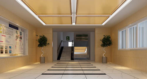 Entrance hall -4, hallway, corridor, commercial space, model