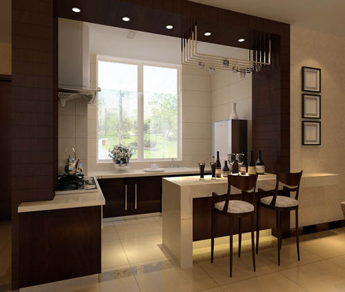 Kitchen -2, dining room, home, home space, model, 3D