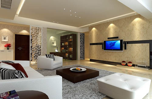 Living room -8, reception room, home space, model, 3D