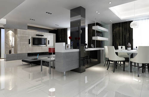 Living room -14, reception room, home space, model, 3d