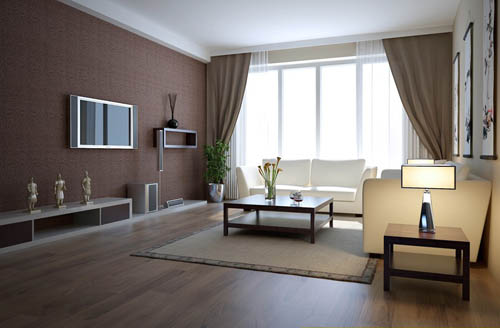 Living room 19 reception room home space model 3d for 3d model room design