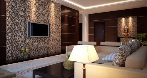 Living room -23, reception room, home space, model, 3D