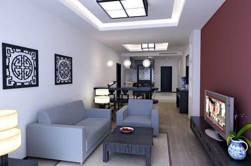 Living room -27, reception room, home space, model, 3D