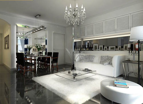 Living room -28, reception room, home space, model, 3D