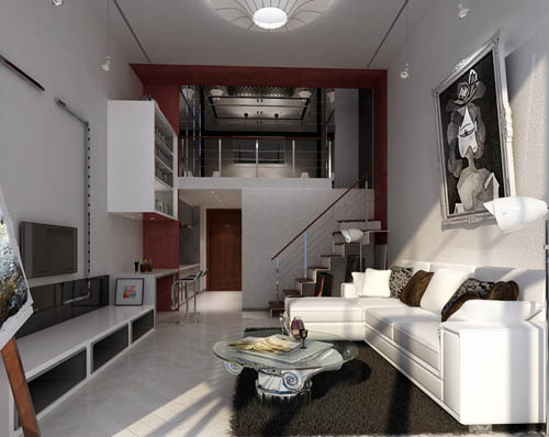Living room -31, reception room, home space, model, 3D