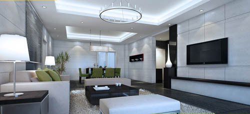 Living room -39, reception room, home space, model, 3D