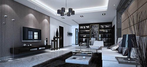Living room -40, reception room, home space, model, 3D