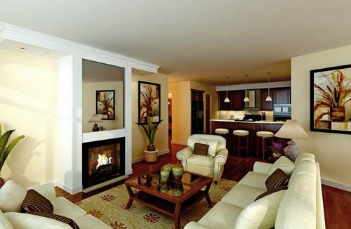 European style, simple decoration, decoration, living room,