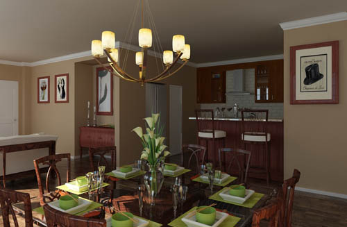 Green's Restaurant, Continental, simple, home decoration, 3D