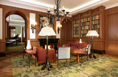 European study, living room, European-style, interior space,