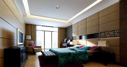 Bedroom, warm decoration, simple decoration, interior space,
