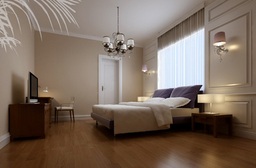Bedroom, simple decoration, European style, interior space,