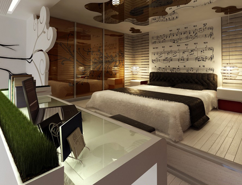 Bedroom, interior space, individual bedrooms, music, piano,