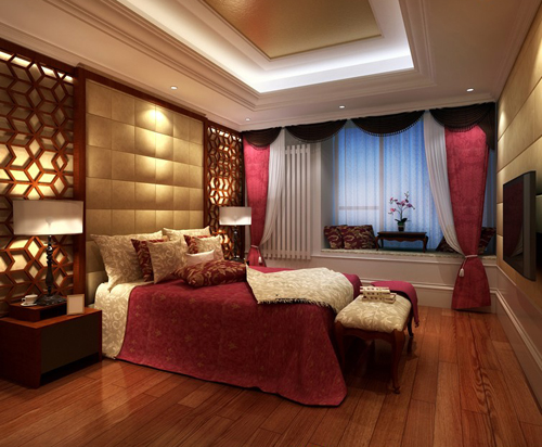Bedroom vintage bedroom classic bedroom interior space for Bedroom designs 3d model
