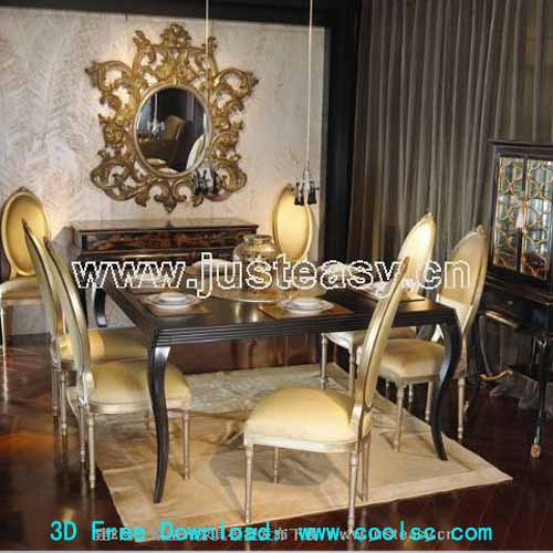 Low-key style -1, luxury dining table and chair combination,