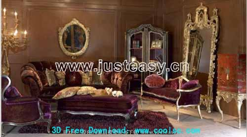 Low-key style , luxury furniture, combination furniture, 3D