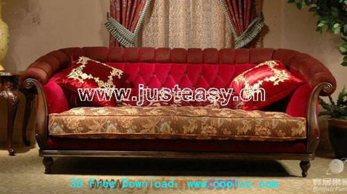 Classical sofa, European furniture, sofa,, 3D model