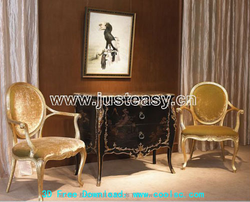 Classic luxury furniture, European furniture, chairs, tables