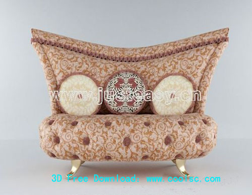 Continental sofa -1, classic sofa, sofa, furniture, 3D model